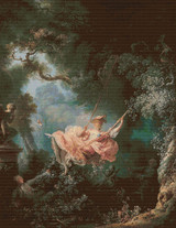 The Swing Cross Stitch Pattern - Jean-Honoré Fragonard