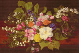 A Bouquet of Spring Flowers on a Ledge Cross Stitch Chart - Otto Didrik Ottesen