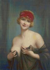 Jeune Femme en Deshabille Cross Stitch Pattern - Francios Martin-Kavel