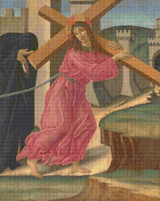 Christ Carrying the Cross Cross Stitch Pattern - Sandro Botticelli