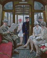 Copenhagen Tram Cross Stitch Pattern - Paul Gustave Fischer
