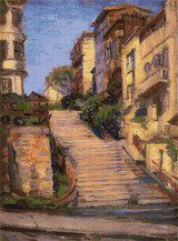 Joice Street (Nob Hill), San Francisco Cross Stitch Pattern - Joseph Kleitsch