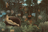 The Dream Cross Stitch Pattern - Henri Rousseau