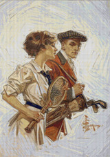 Golf or Tennis Cross Stitch Chart - JC Leyendecker