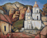 La Iglesia de Texcoco Cross Stitch Pattern - Alfredo Ramos Martinez