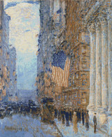 Flags on the Waldorf Cross Stitch Chart - Childe Hassam