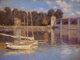 The Bridge at Argenteuil Cross Stitch Pattern - Claude Monet