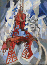 Eiffel Tower Cross Stitch Pattern - Robert Delaunay