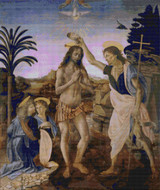 The Baptism of Christ Cross Stitch Pattern - Andrea del Verracchio
