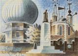 Greenwich Observatory Cross Stitch Pattern - Eric Ravilious