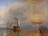 The Fighting Temeraire Cross Stitch Pattern - J. M. W. Turner