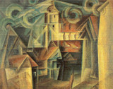 The Cathedral Cross Stitch Chart - Lyonel Feininger