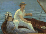 Boating Cross Stitch Chart - Edouard Manet