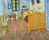 Bedroom at Arles Cross Stitch Pattern - Vincent van Gogh