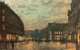 Boar Lane, Leeds Cross Stitch Pattern - John Atkinson Grimshaw