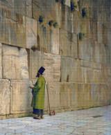 The Wailing Wall Cross Stitch Pattern - Jean Leon Gerome