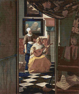 The Love Letter Cross Stitch Chart - Johannes Vermeer