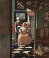 The Love Letter Cross Stitch Chart - Johannes Vermeer
