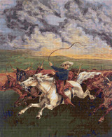 Prairie Fire Cross Stitch Pattern - Frederic Remington