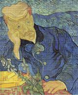 Portrait of Doctor Gachet Cross Stitch Pattern - Vincent van Gogh