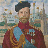 Emperor Nicholas II Cross Stitch Pattern - Boris Kustodiev