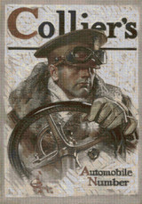 Collier's Magazine Cover - January 5, 1918 Cross Stitch Pattern - JC Leyendecker
