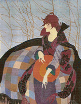 Vogue Magazine Cover - January 1919 Cross Stitch Pattern