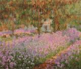 Irises in Monet's Garden Cross Stitch Pattern - Claude Monet
