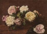 Flowers, Roses Cross Stitch Pattern - Henri Fantin-Latour