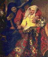 The Procuress Cross Stitch Pattern - Johannes Vermeer