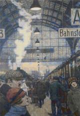Railway Station Cross Stitch Pattern - Hans Baluschek
