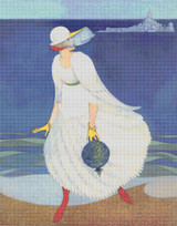 Vogue Magazine Cover - August 1, 1916 Cross Stitch Pattern