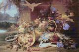 Elegant Still Life with Flowers Cross Stitch Pattern - Eugene Bidau