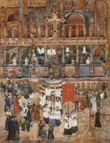 Easter Procession, St. Marks Cross Stitch Pattern - Maurice Prendergast