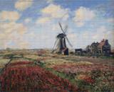 A Field of Tulips in Holland Cross Stitch Pattern - Claude Monet