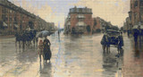 A Rainy Day in Boston Cross Stitch Pattern - Childe Hassam