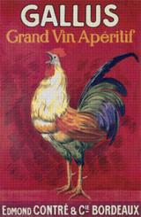 Gallus Grand Vin Aperitif Cross Stitch Pattern - Leonetto Cappiello