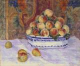 Still Life with Peaches Cross Stitch Pattern - Pierre-Auguste Renoir