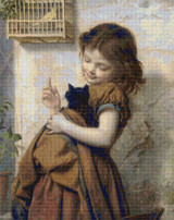 Her Favorite Pets Cross Stitch Pattern - Sophie Anderson