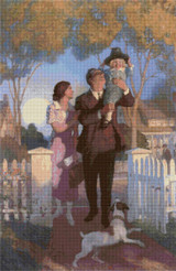 Arriving Home Cross Stitch Pattern - Newell Convers Wyeth