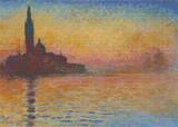 San Giorgio Maggiore at Dusk Cross Stitch Chart - Claude Monet