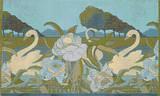 The Swans Cross Stitch Pattern - George de Feure