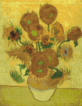 Still Life with Sunflowers Cross Stitch Pattern - Vincent van Gogh