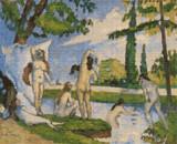 Bathers Cross Stitch Pattern - Paul Cézanne