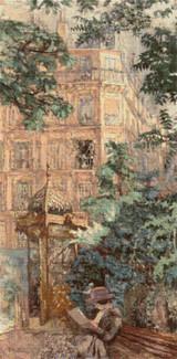 The Kiosk Cross Stitch Pattern - Edouard Vuillard
