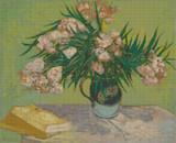 Oleanders Cross Stitch Pattern - Vincent van Gogh