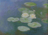 Water-Lilies, Evening Effect Cross Stitch Chart - Claude Monet