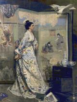 L'Admiratrice du Japon Cross Stitch Pattern - Gustave Leonard De Jonghe