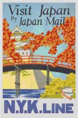 Visit Japan Cross Stitch Pattern