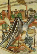 The Iron Bridge Cross Stitch Chart - Max Beckmann